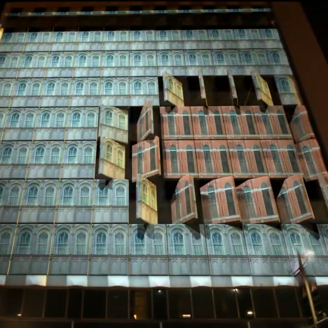 """3D Projection Mapping Promoting """"The Tourist"""" In Dallas"""