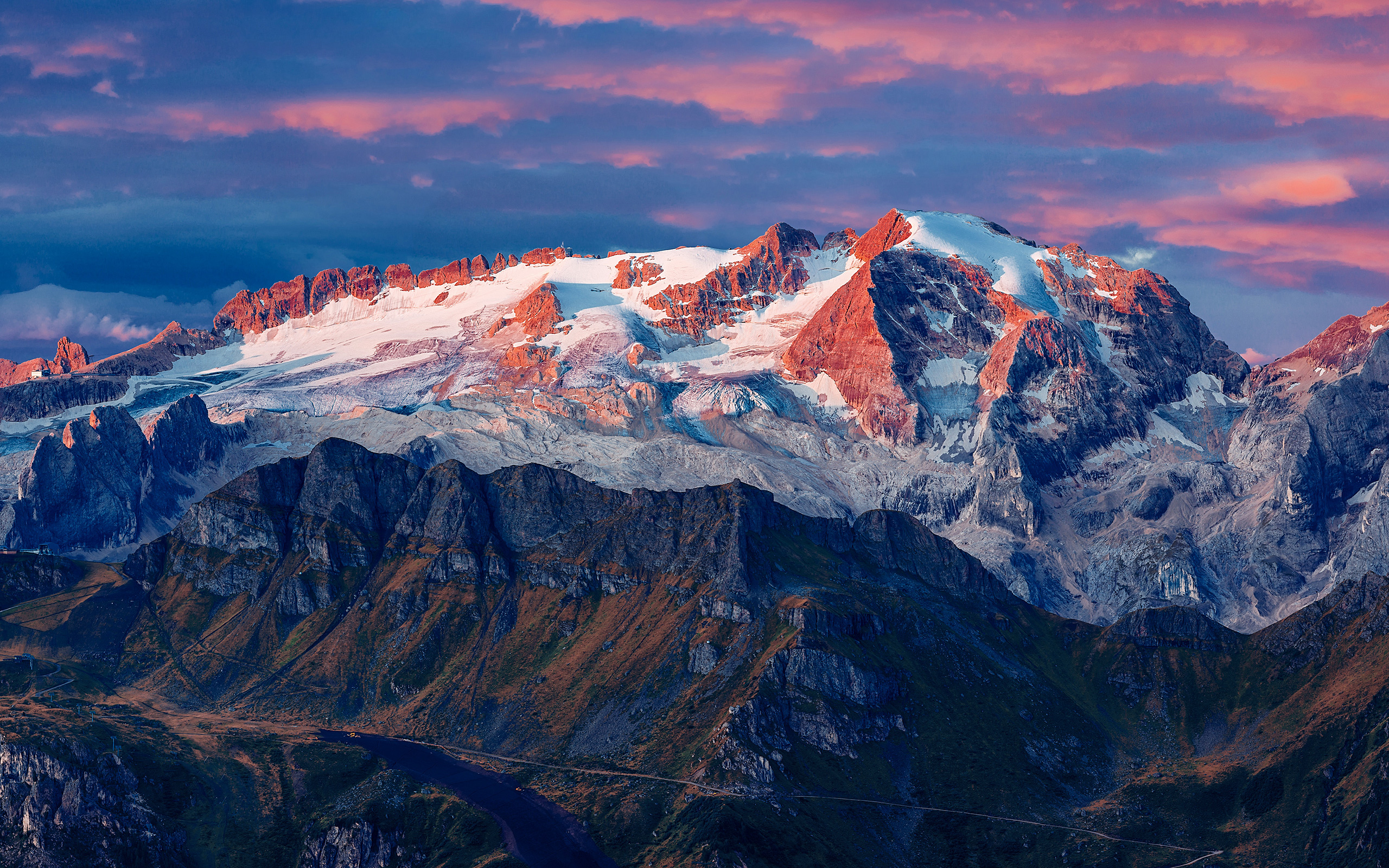 Daily Wallpaper: Marmolada Glacier, Colfosco, Italy