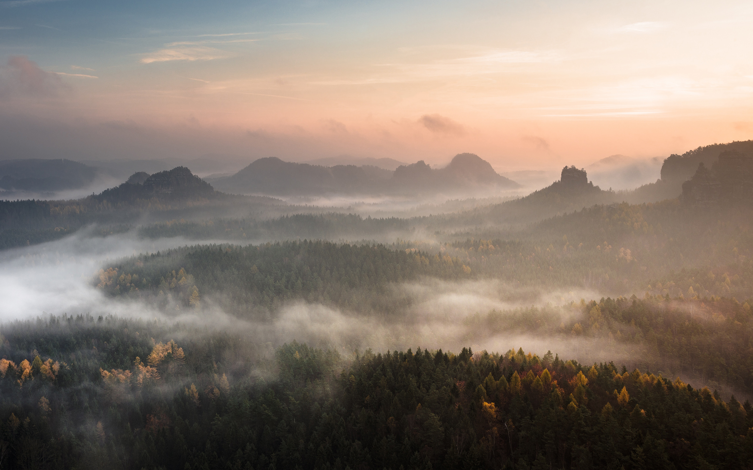 daily wallpaper: sunset in saxon, switzerland | i like to waste my time