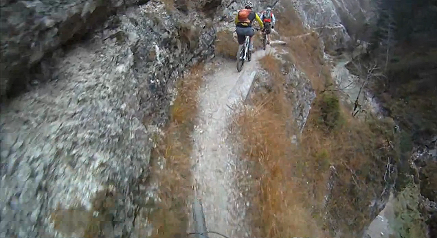 Intense Cliff Side Mountain Biking In Austria Video I