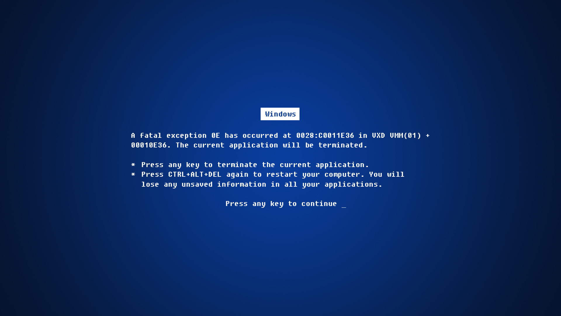 Daily Wallpaper Blue Screen Of Death