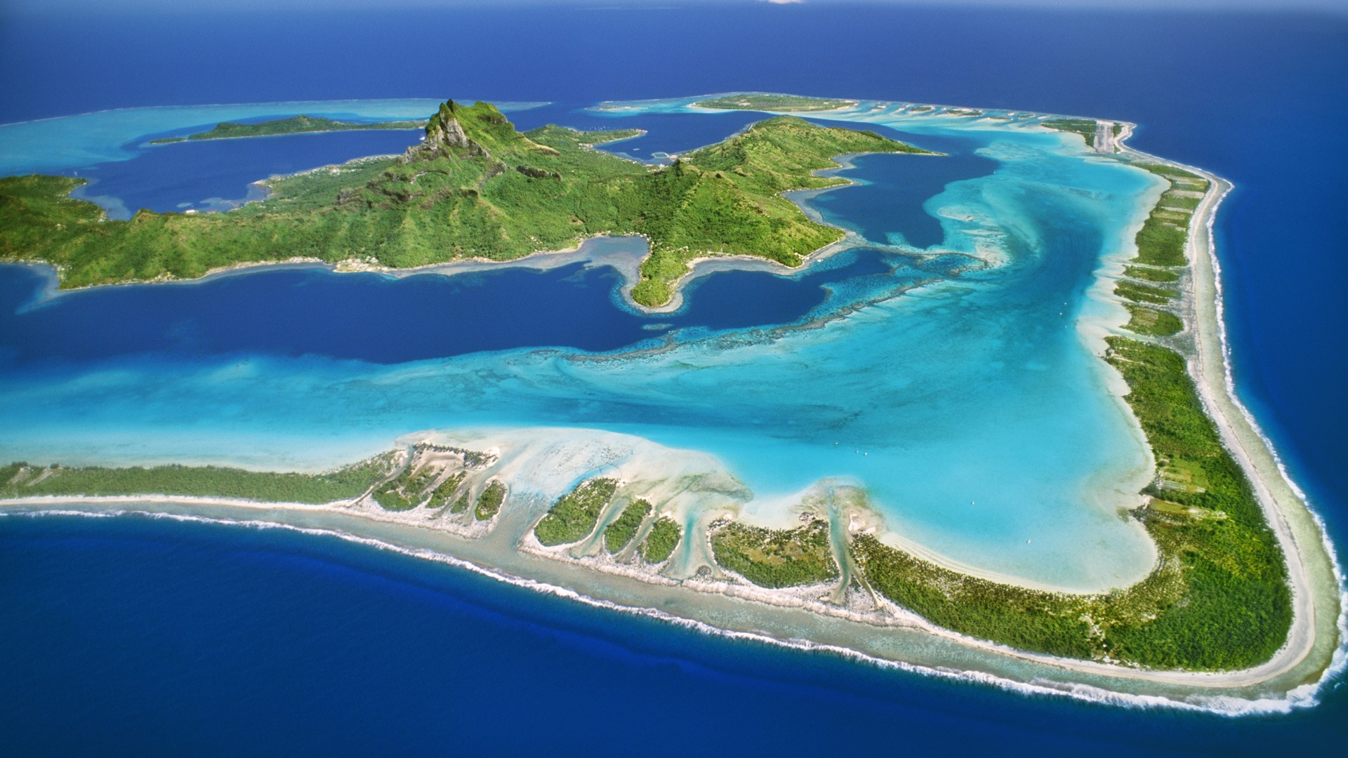 Bora Bora Island French Polynesia  city photos : Bora Bora, island in French Polynesia. [1920 x 1080] Imgur