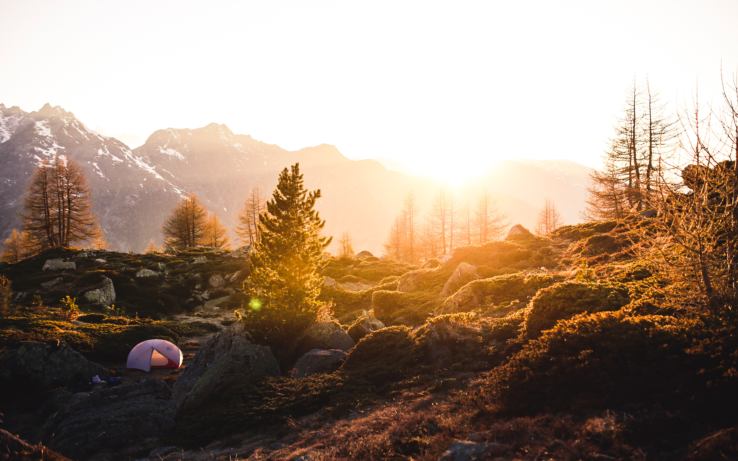 Daily Wallpaper Camping In Swiss Mountains I Like To