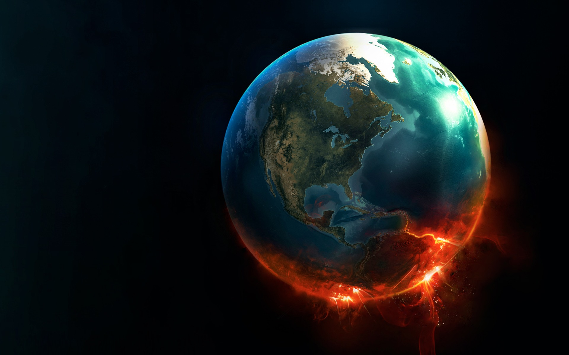 I Like To Waste My Time: Daily Wallpaper: World On Fire