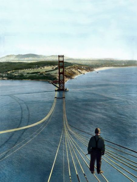 Construction Of The Golden Gate Bridge In 1933 Photos