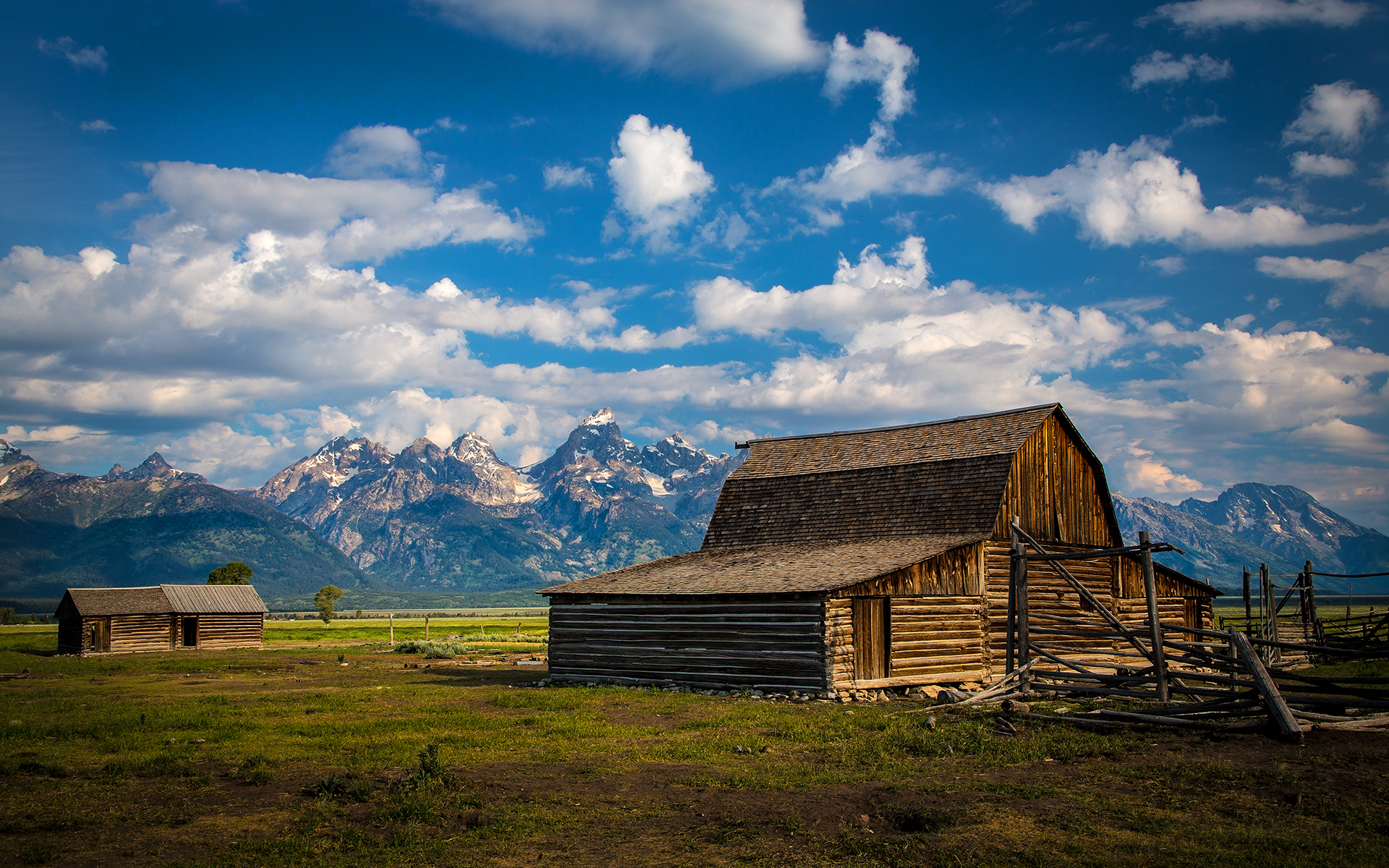 Daily wallpaper grand tetons wyoming usa i like to for Farmhouse wallpaper