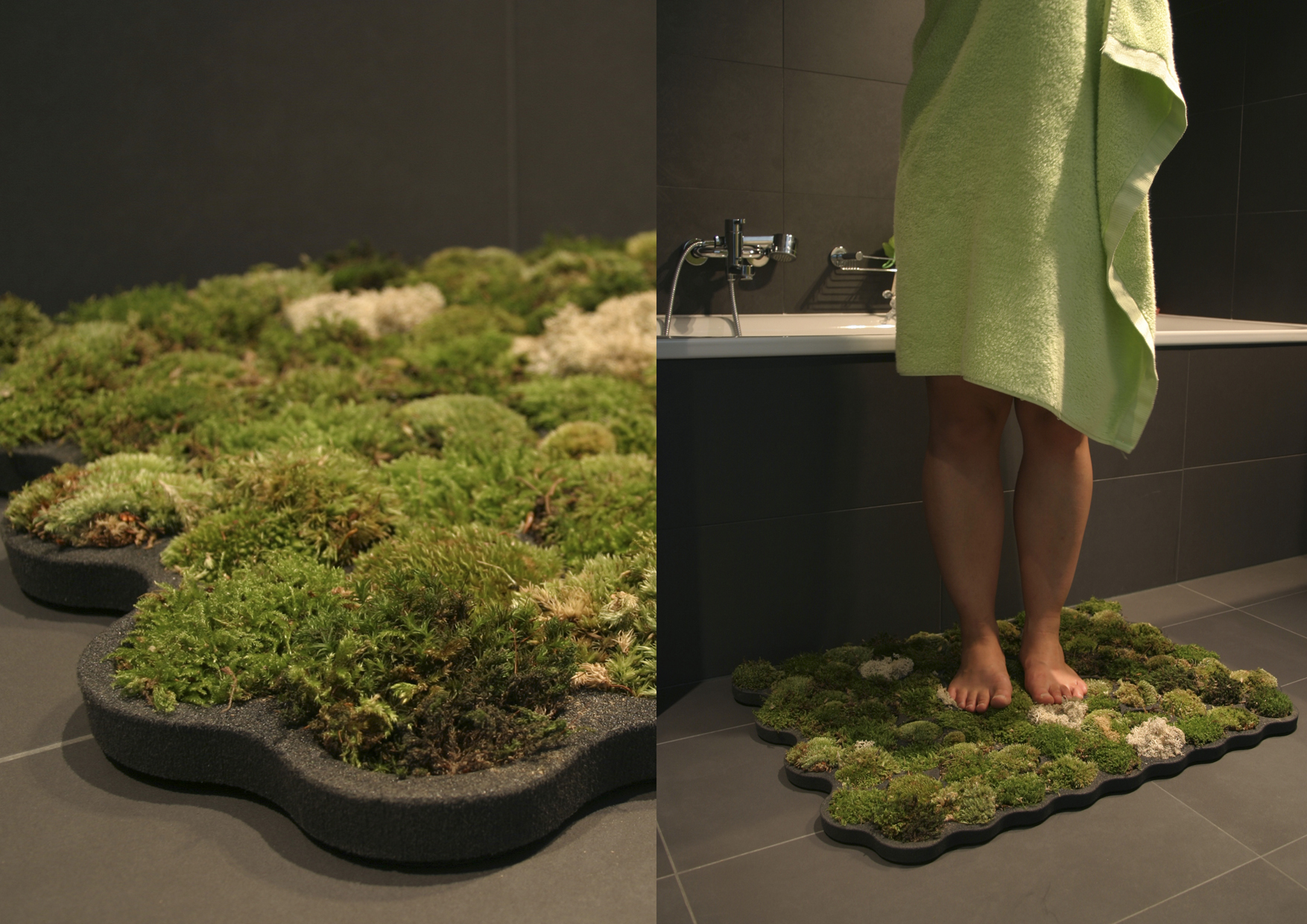 Green design 10 pics i like to waste my time for Make a moss bath mat