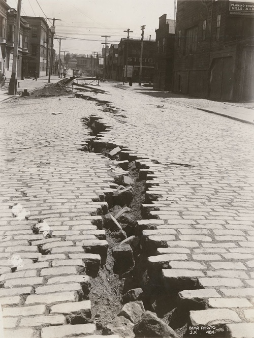 Gash In The Street After The Great Earthquake Of 1906 In