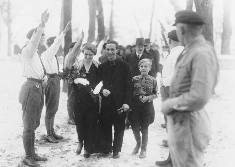 Joseph goebbels on his wedding day hitler was his best man and can be