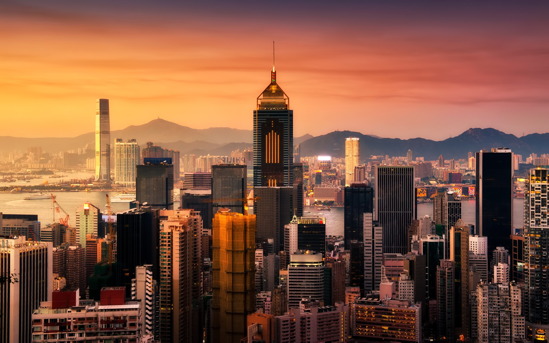 daily wallpaper: hong kong at sunrise | i like to waste my time
