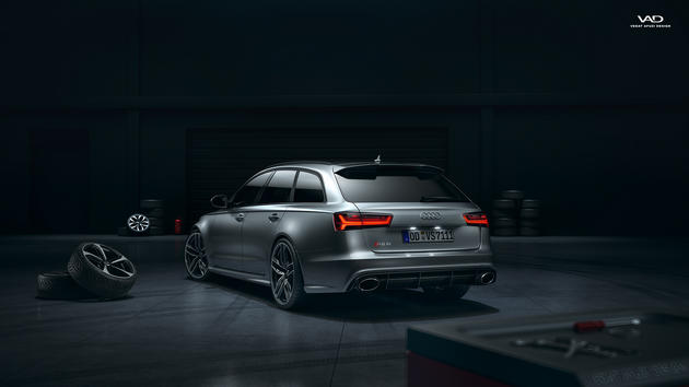 Audi RS6 performance Garage scene Full CGI by-Vedat-Afuzi