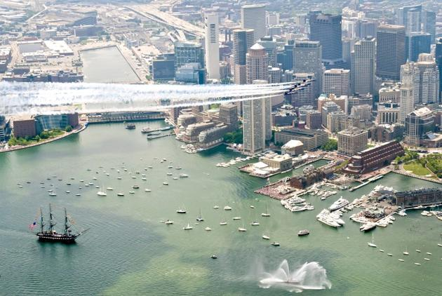 Blue Angels in Boston, USA