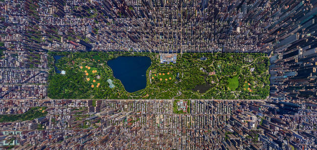 Central Park panorama, New York