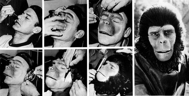 Roddy McDowall make up from the 1974 Planet of the Apes. It used to take 6 hours just to apply.