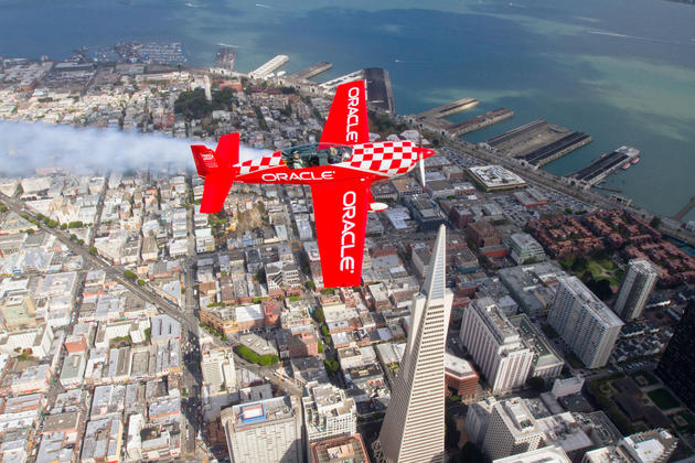 Air show over San Francisco, California