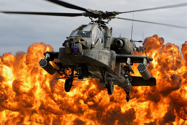 AH-64D Showing its force