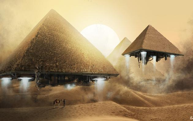 Ancient Aliens Blasting off in Pyramids back to space