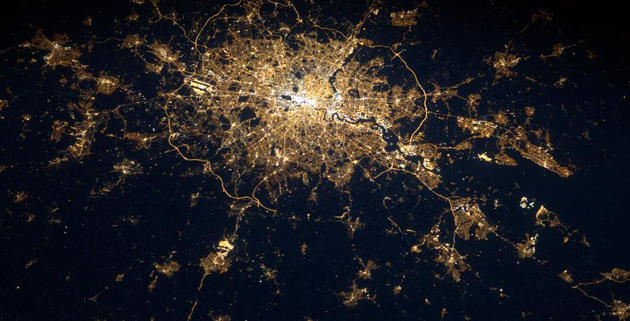 London Town from Space by Andre Kuipers