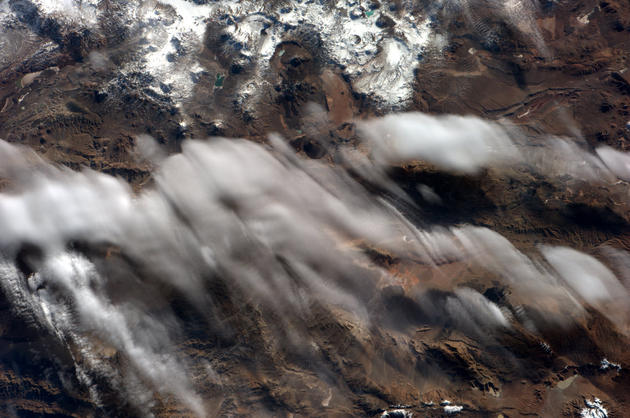 Andes Mountains From Space by Andre Kuipers