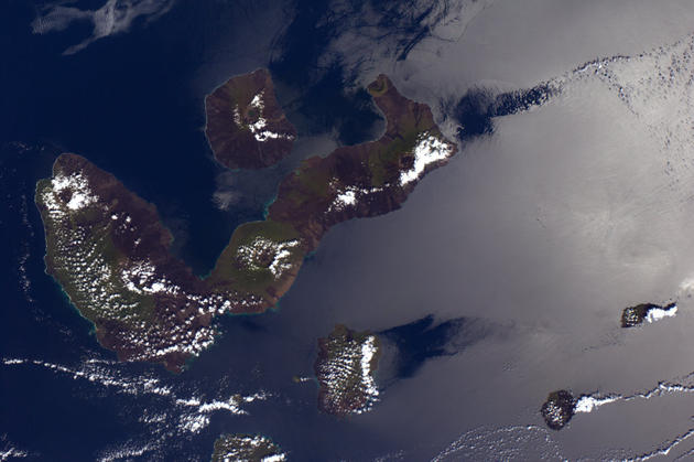 Galapagos Islands from Space by Andre Kuipers