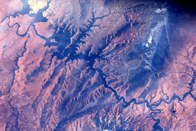 Lake Powell and Colorado River from Space by Andre Kuipers