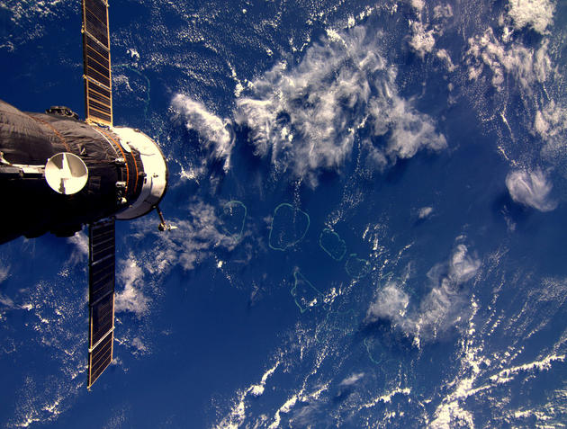 Maldives from Space by Andre Kuipers