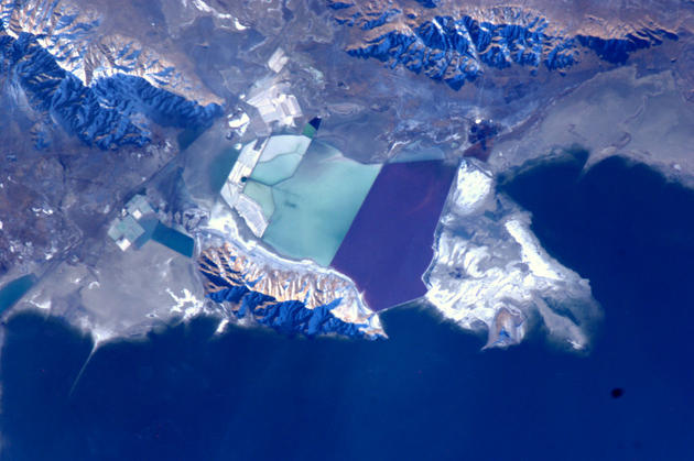 Salt Lake City from Space by Andre Kuipers