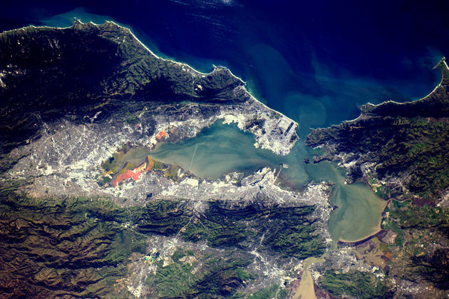 San Francisco and the Golden Gate Bridge from Space by Andre Kuipers