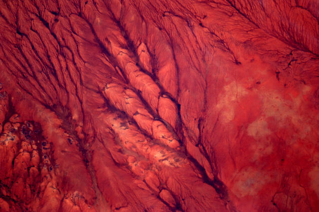 Somolian Desert From Space by Andre Kuipers