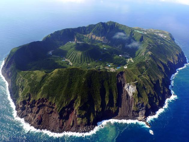 Aogashima Island Arial View