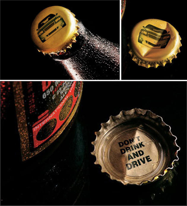 Bottle Cap Advertisement