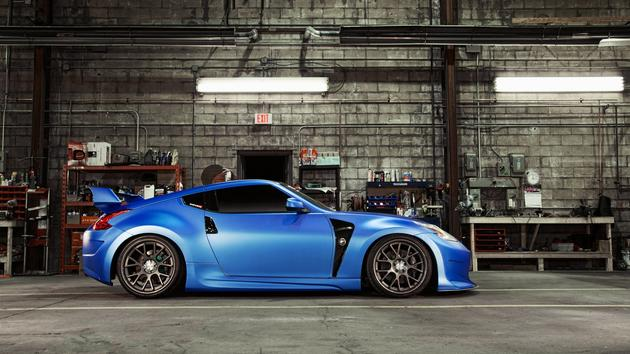 Blue Nissan 370z Modded