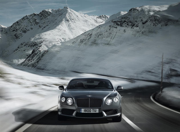 Bentley in the mountains