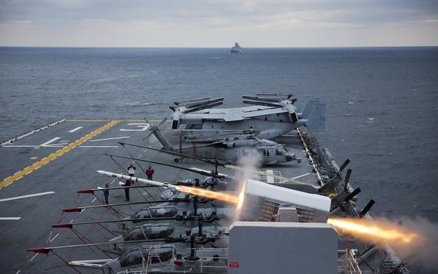 Carrier missile launch