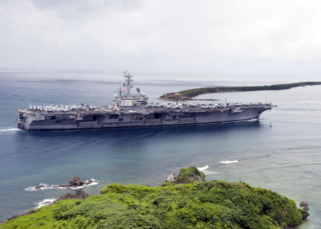 USS Ronald Reagan entering Guam