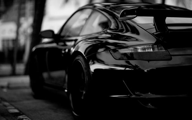 High Resolution Wallpaper Porsche Black