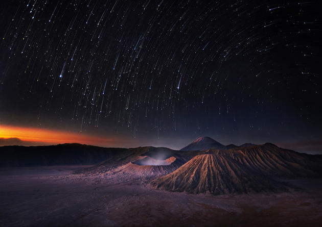 Bromo before sunrise