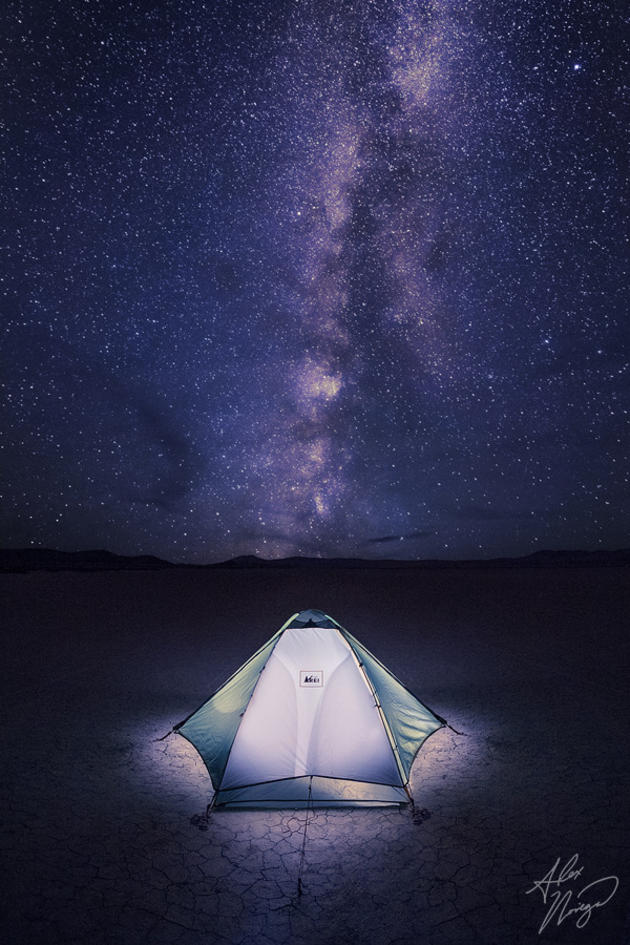 Oregon's Alvord desert, under the Milky Way