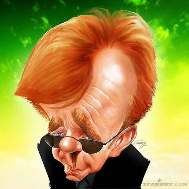 Caricature by Anthony Geoffroy