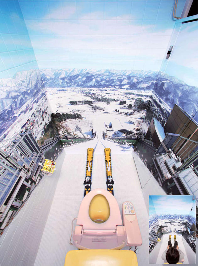 cool ski bathroom