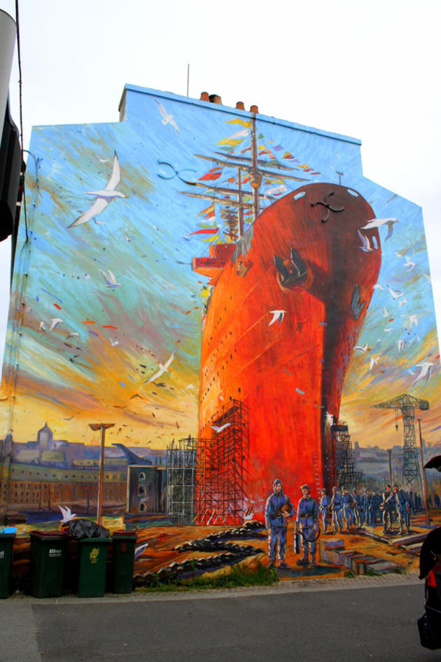 Big ship graffiti