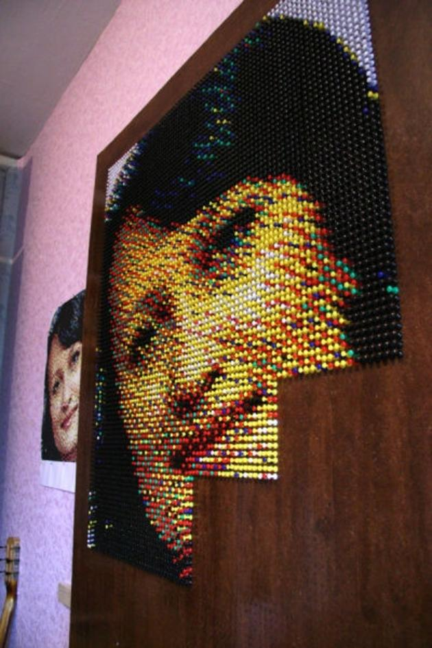 Creative Art using Push Pins