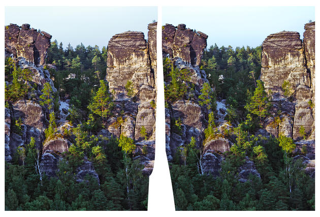 Elbe Sandstone Mountains in 3D
