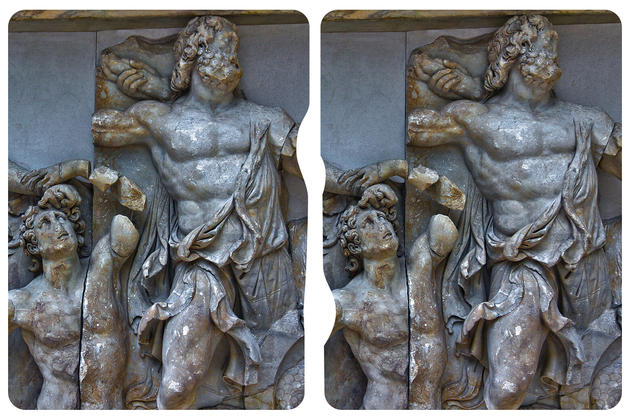 Pergamon Museum Berlin cross eye 3d