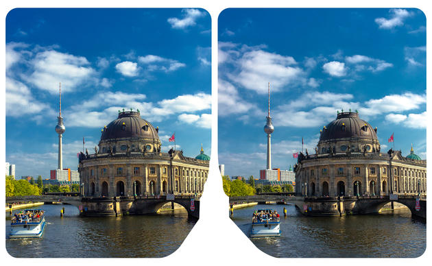 Bode Museum at the Museum Island of Berlin cross eye 3D