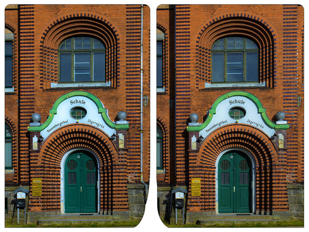 Village School 3D photo