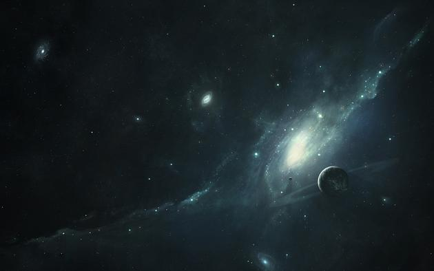 Distant Planets HD Art Wallpaper Background