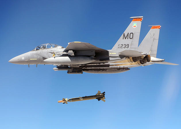 F-15A dropping a GBU 28