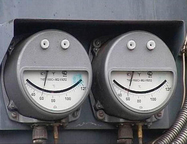Two meters that look like faces
