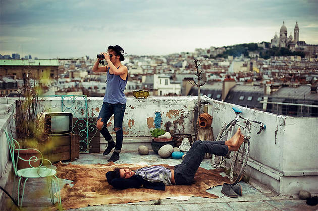 French Hipsters on the roof tops